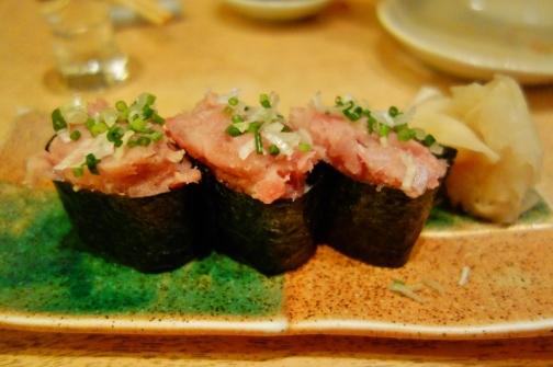 Toro sushi (Tokyo, Japan)