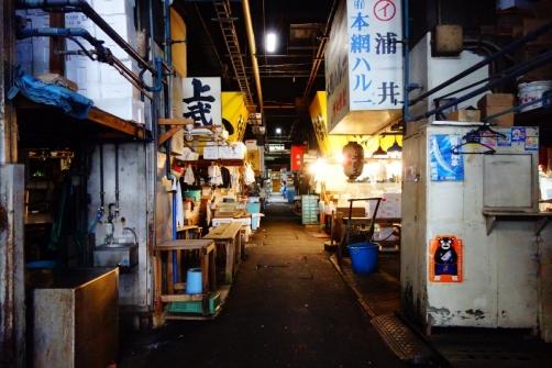 Inside the Tsukiji fish market (Tokyo, Japan)