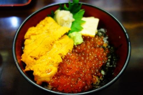Uni & ikura over rice (Tokyo, Japan)