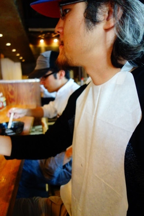 Paper bib for ramen (Tokyo, Japan)