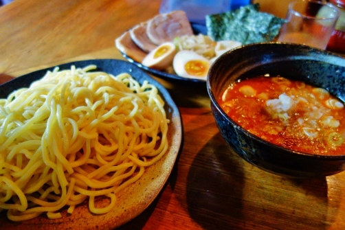 Tsukemen with all the fixings (Tokyo, Japan)