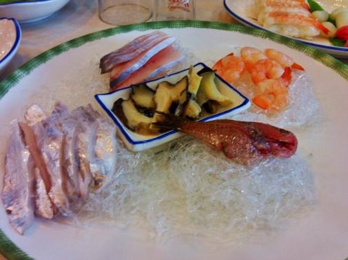 Korean sashimi (Jeju Island, South Korea)