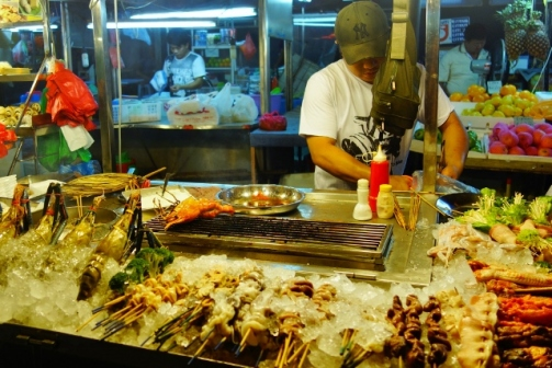 Seafood stall on Jalan Alor