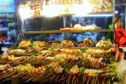 Skewered meat and seafood (Kuala Lumpur, Malaysia)