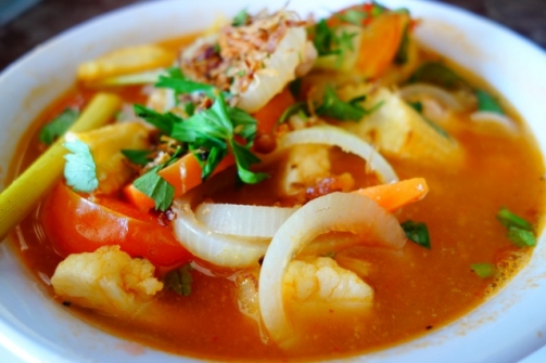 Tom Yum noodles (Mama's Place. Perhentian Islands)