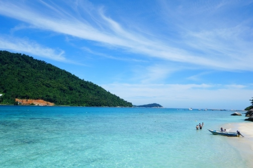 View of Perhentian Kecil from Perhentian Besar (Malaysia)