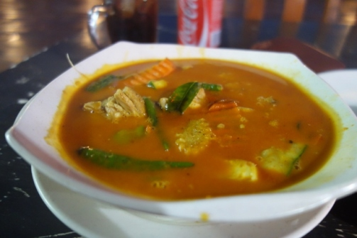 Tom Yam noodle soup (Cocohut, Perhentian Islands)