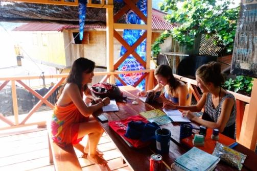 Scuba theory class (Perhentian Islands, Malaysia0
