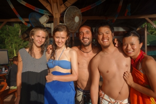 Our Open Water instructor and fellow classmates (Perhentian Islands, Malaysia)