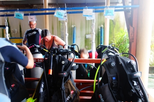 Our dive gear (Perhentian Islands, Malaysia)