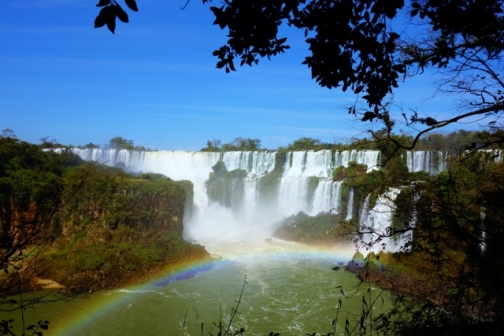 Rainbow and Iguazu Falls