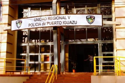 Main police station in Puerto Iguazu, Argentina