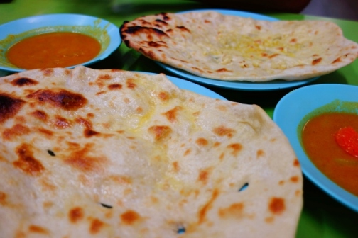 Curry and naan (George Town, Malaysia)
