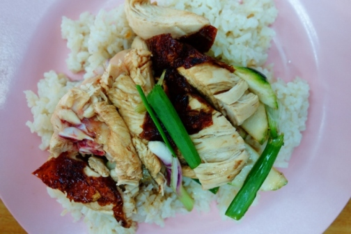 Hainanese chicken rice (George Town, Malaysia)