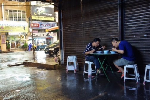 Wan Tan Mee in the rain (George Town, Malaysia)