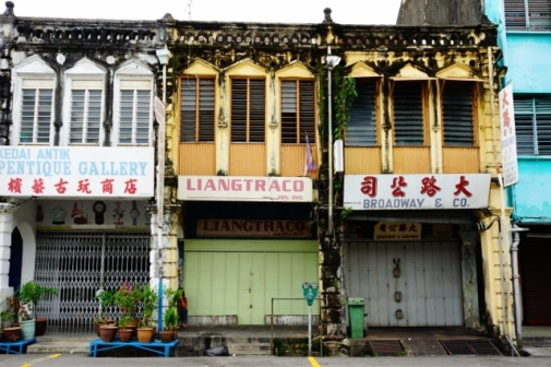 Original shophouses in George Town (Penang, Malaysia)