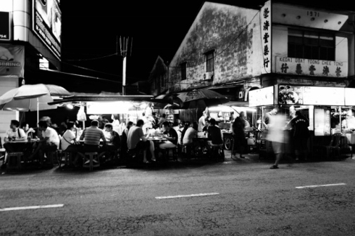 Hawker food stalls in George Town (Penang, Malaysia)