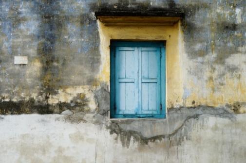 Blue window (George Town, Malaysia)