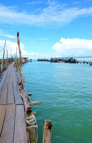 The pier outside Penang National Park (Penang, Malaysia)