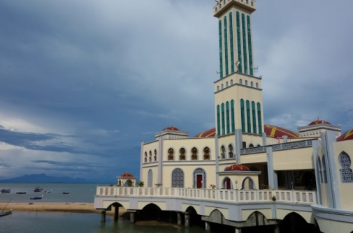 Floating mosque in Penang, Malaysia