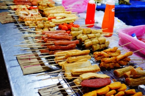 Meat on a stick (Cameron Highlands, Malaysia)