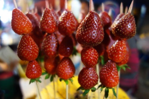 Strawberries on a stick (Cameron Highlands, Malaysia)